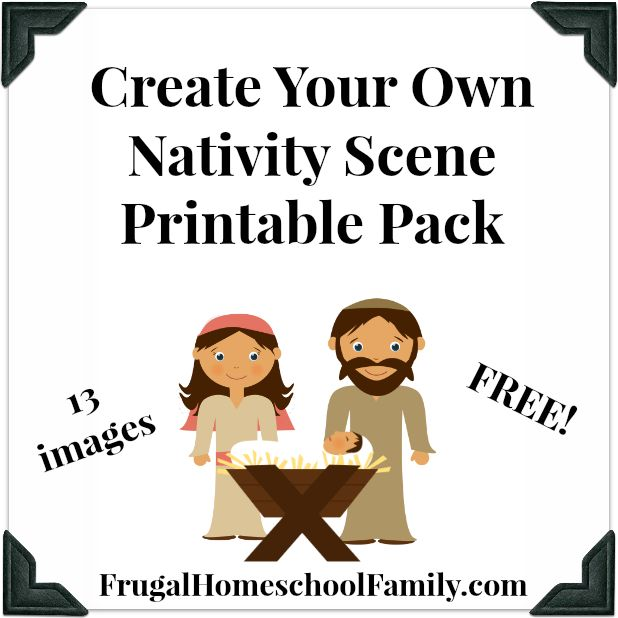 FREE Create Your Own Nativity Scene Pack Frugal