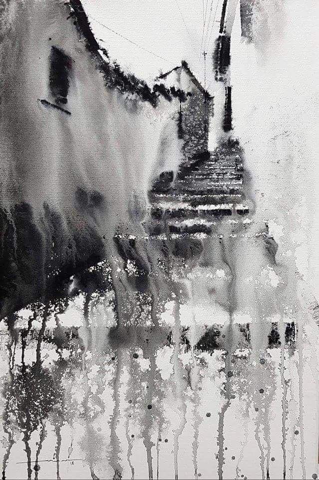 Art De Chat Noir Imprimer De Mon Aquarelle Par Colorwatercolor