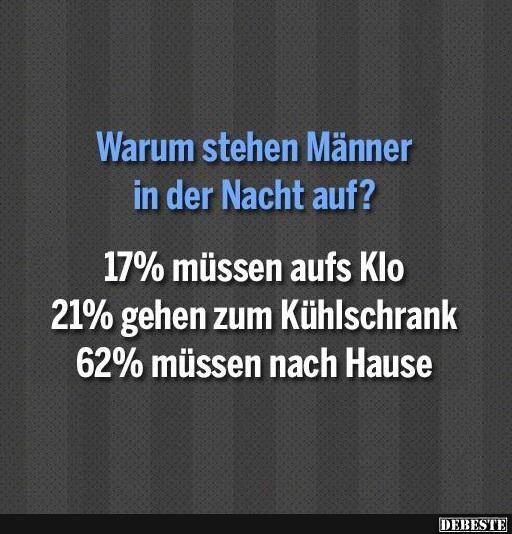 Warum stehen Männer in der Nacht auf? | DEBESTE.de, Lustige Bilder, Sprüche…