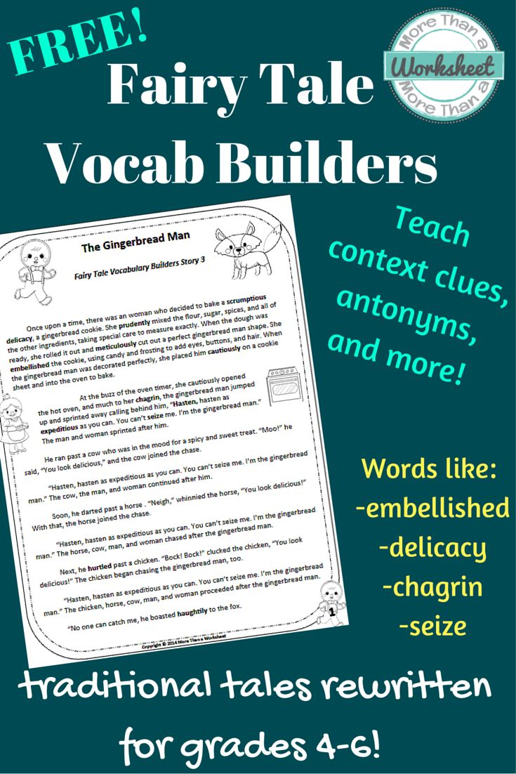 Fairy Tale Vocabulary Builders. Finally fairy tales for older students ...