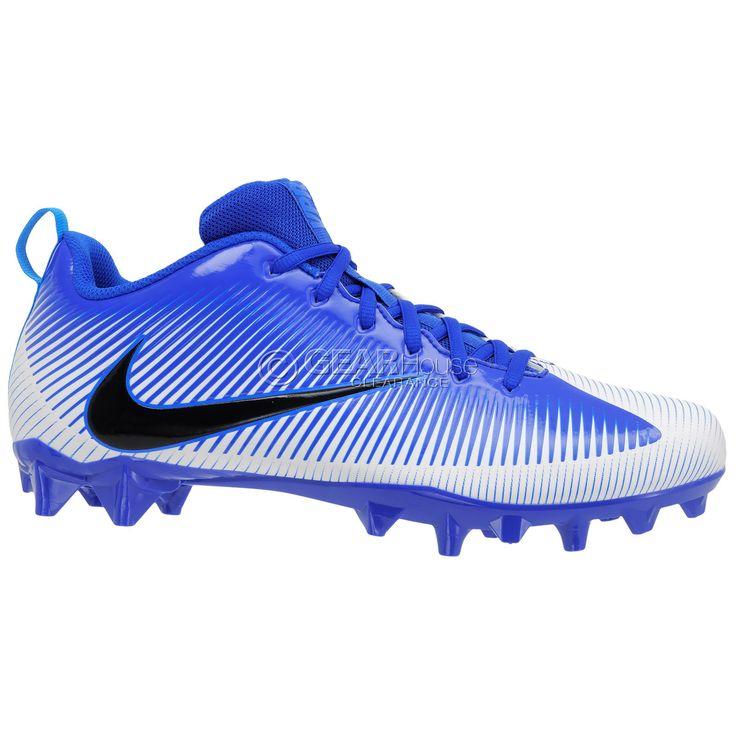 New Nike Vapor Strike 5 Low TD Mens Football Cleats : Royal Blue / White