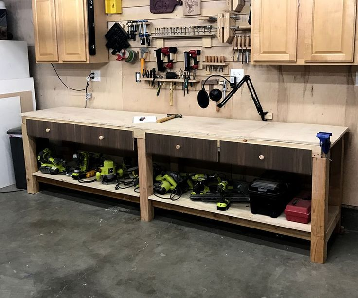 $100 10ft Work Bench/Surface With Storage   Workbench with ...