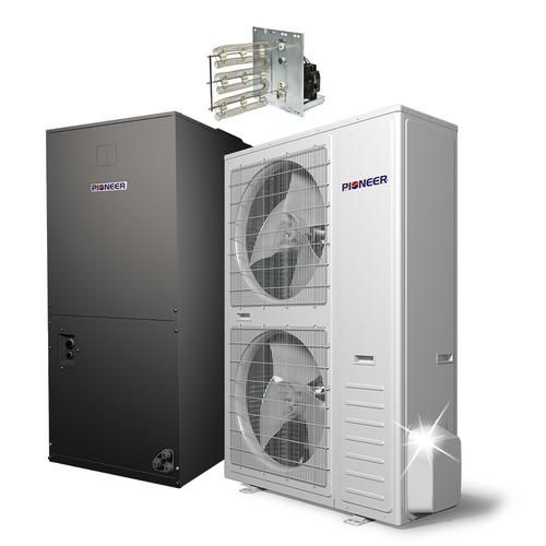 Mini Split Ac Heat Pump Inverter Units Pioneer Mini Split In 2020 Locker Storage Ac Heating Mini Split Ac