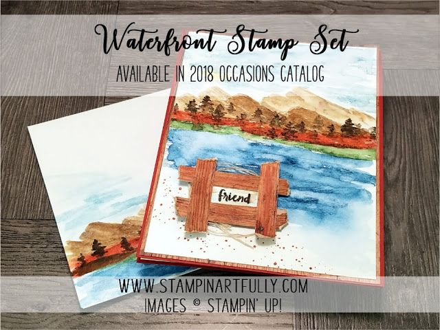 "Stampin Artfully: Landscape ""Painting"" with the New Waterfront Stamp Set"