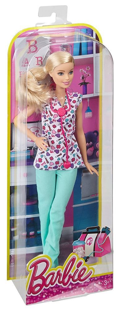Mattel Barbie Career You Can Be Series Nurse Standard Sz Doll & Outfit READ B248 #Mattel #DollswithClothingAccessories