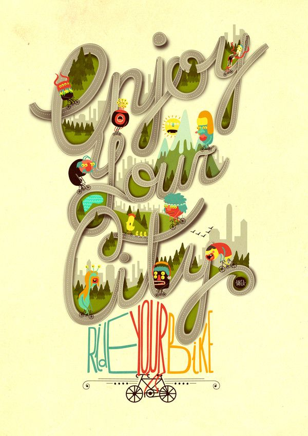 Enjoy your city by Juan Carlos Paz Gómez AKA -BAKEA-, via Behance