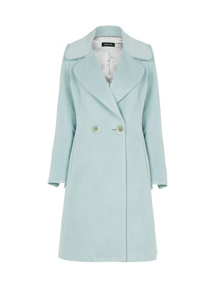 NEW ARRIVALS | MOSS & SPY 2016 Winter Collection.   The ICE COAT is a double-breasted luxe overcoat in soft ice blue. This coat features long sleeves and fully lined. It's crafted from warm wool-cashmere blend and lined in satin. Available NOW at ASPIRATIONS. #springracing #races #autumn #winter #horseraces