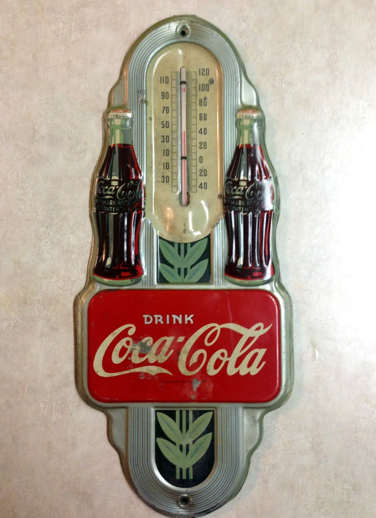 1941 Coca Cola Thermometer Double Bottle Coke Tin Sign Thermometer Vintage | eBay