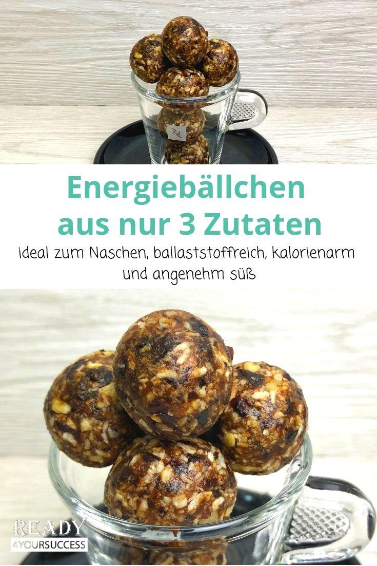 Gesunde Energiebällchen aus nur 3 Zutaten