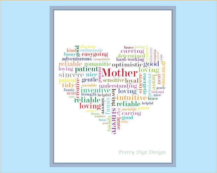 Printable greeting card for mother, Ready to print card, mother's day, mother appreciation card, love card, I love you printable, heart card - pinned by pin4etsy.com