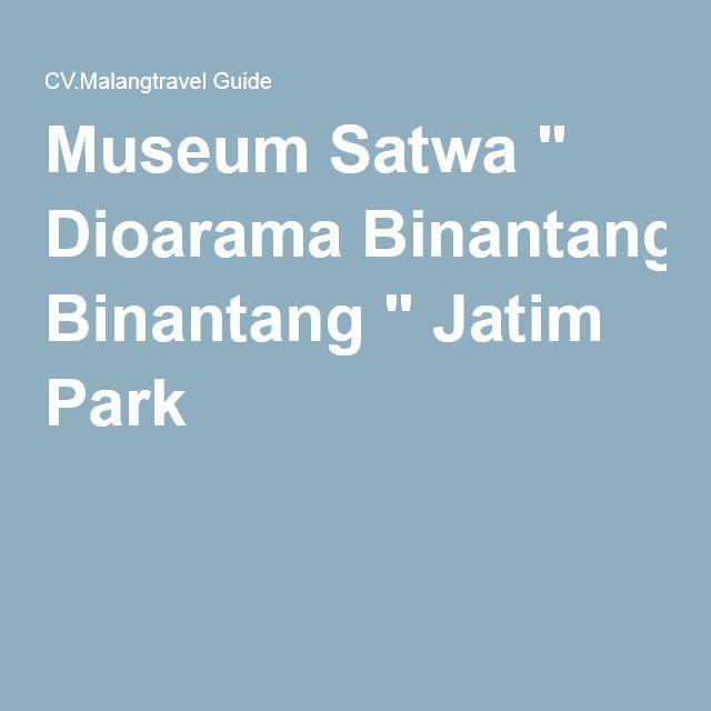"""Museum Satwa """" Dioarama Binantang """" Jatim Park 2"""