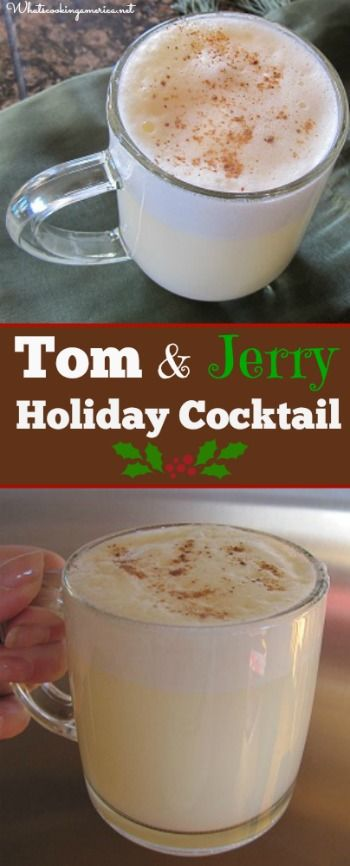 Tom and Jerry Cocktail Recipe .  One Word.  DELISH!  Definite make again.  It's like a light version of hot buttered rum.