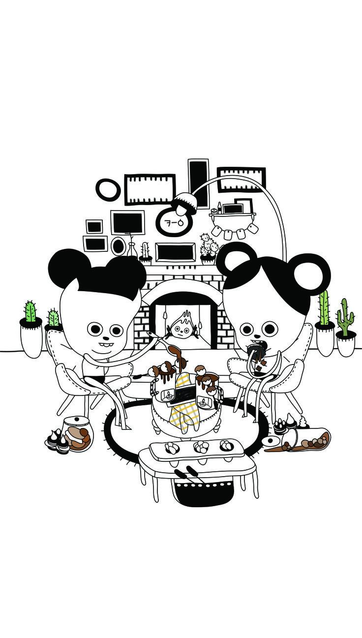 choco, fondue, illustration,illust,sniff,킁킁이