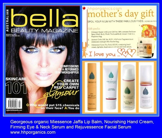 #Mother'sDay gift ideas from Miessence include Jaffa Lip Balm, Nourishing Hand Cream, Firming Eye & Neck Serum and Rejuvessence Facial Serum all available at www.hhporganics.com