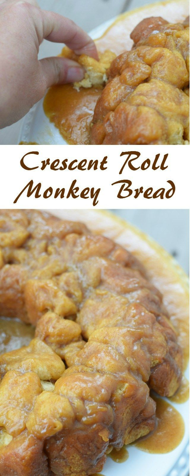 Delicious and easy crescent roll monkey bread recipe. This comes together quickly for a special occasion breakfast for company or a fun weekend treat for your family brunch. @Pillsbury #ItsBakingSeason AD