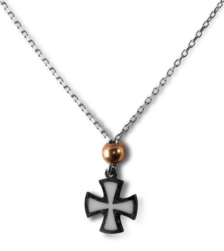 Κολιέ από ασήμι 925 με σταυρό από σμάλτο #style #fashion #moda