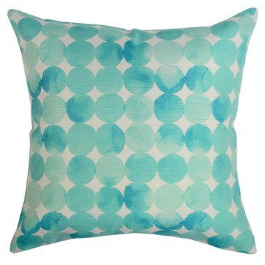 Watercolour Drops Outdoor Cushion $89.95, Frankie & Co