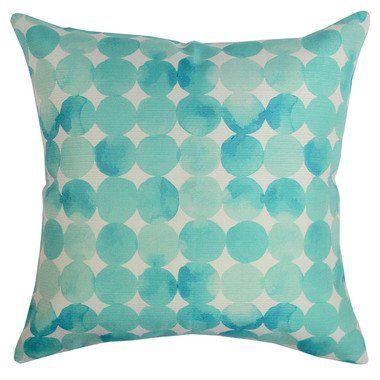 Watercolour Drops Outdoor Cushion $89.95, Frankie & Co