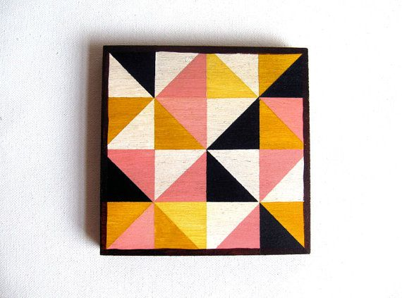 Art Block  Geometric paintings on wood by Lunartics on Etsy, €20.00