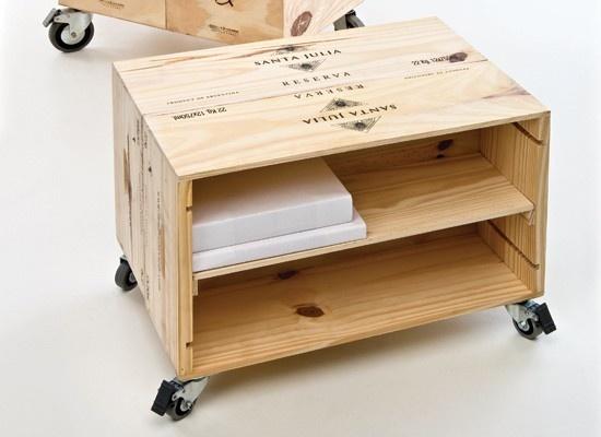 DIY Wine Crate File Cabinet!