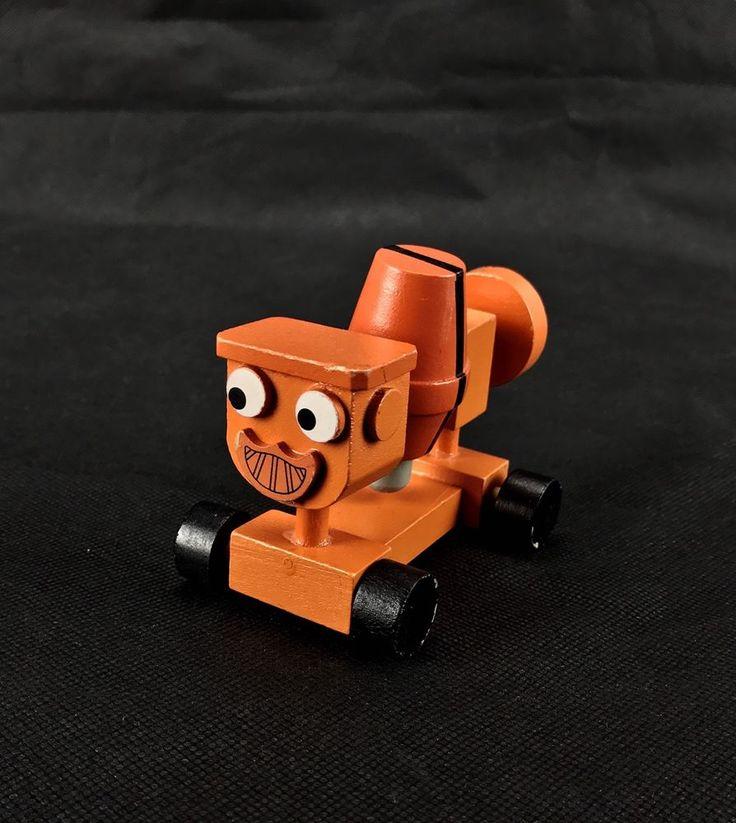 Bob The Builder Dizzy the cement mixer wooden mixer turns kids toy orange
