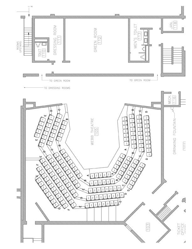 theatre seating dimensions - Google Search