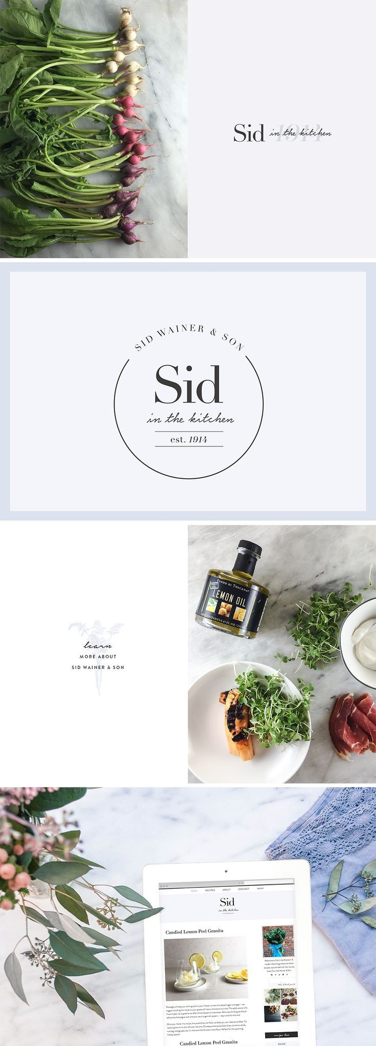 Meg Summerfield Studio | Branding and Squarespace Expertise | Sid in the Kitchen a Gourmet Food Blog by Sid Wainer and Son