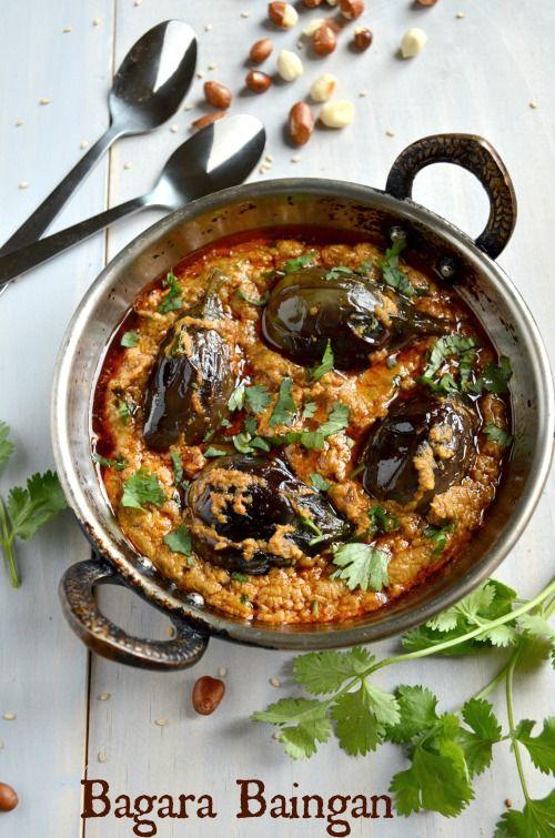 'Bagara Baingan' [Eggplant] / 'Hyderabadi-Bagara-Baingan' [Eggplant] - An Andhra Pradesh, [India] Delicacy
