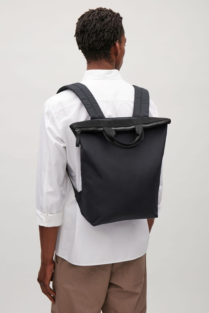 COS image 4 of Tote backpack in Dark Navy