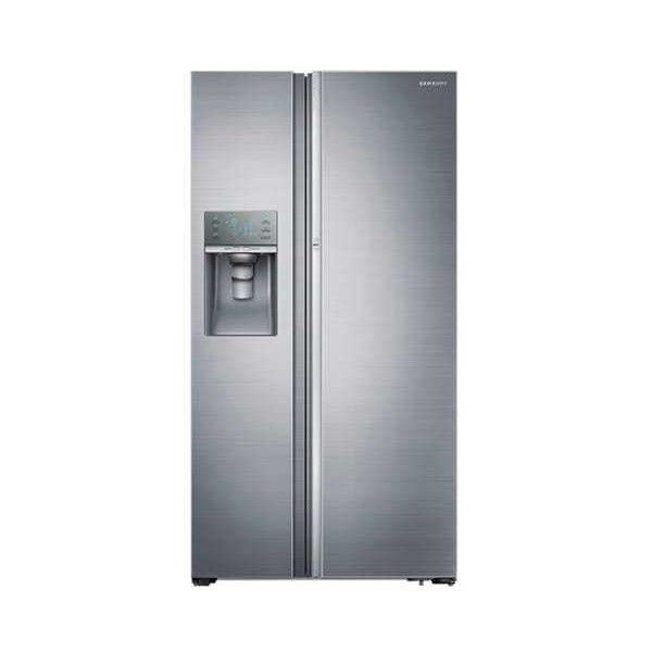 """Samsung RH29H9000 29 Cu. Ft. Capacity 36"""" Wide Side-By-Side Food ($2,499) ❤ liked on Polyvore featuring home, kitchen & dining, small appliances, refrigerators, side by side, stainless steel, freezer ice maker, ice maker, samsung ice maker and samsung"""