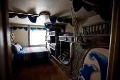 Pirate ship bunk beds guest room