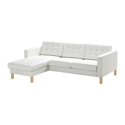 KARLSTAD Loveseat And Chaise Lounge IKEA Soft, Hardwearing And Easy Care  Leather Ages Gracefully.