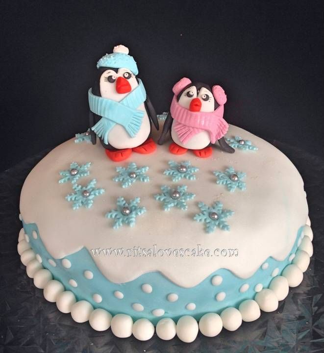Winter Themed Party - Penguin Cake