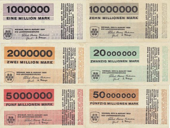 Emergency bank notes, Herbert BAYER (Weimar Bauhaus) 1923
