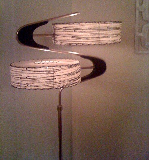Retro lampshades from Moon Shine Lamp and Shade Company
