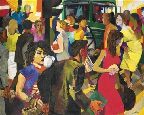 La Strada - Renato Guttuso - Social Realism, 1956
