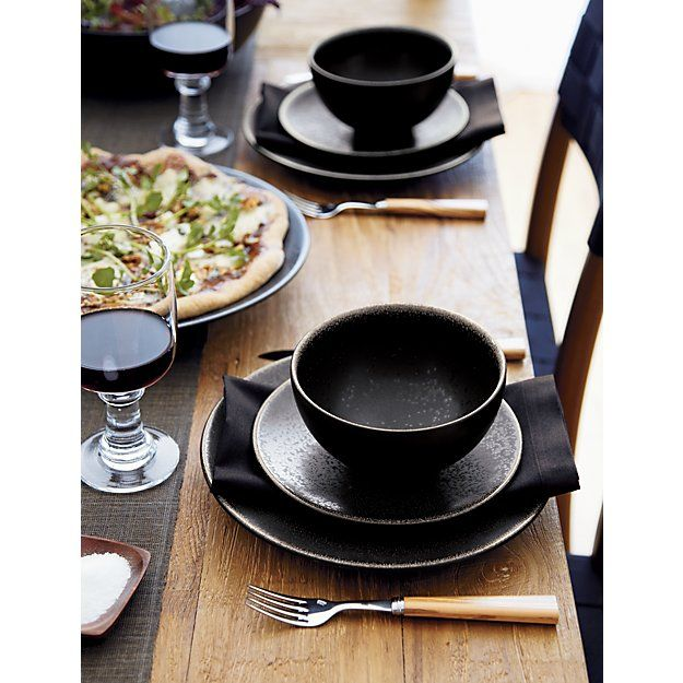 Jars Tourron Black Dinner Plate | Crate and Barrel