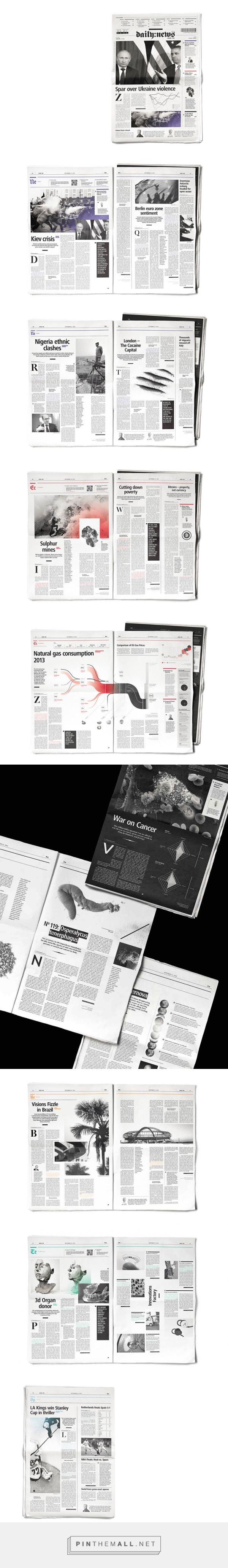 Editorial Design Inspiration: Daily News