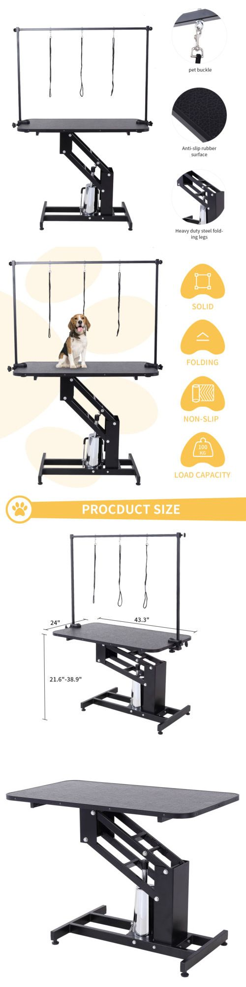 Grooming 177792: Adjustable Z-Lift Hydraulic Dog Pet Grooming Table Powder Coating Arm And Noose -> BUY IT NOW ONLY: $249.9 on eBay!