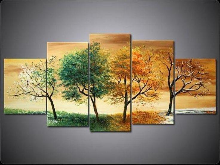 """#Cuadro de Naturaleza Pintado a mano, """"4 Estaciones"""". #Tableaux Nature peints à la Main, """"4 Saisons"""". http://www.matblank.com/Las-4-Estaciones"""