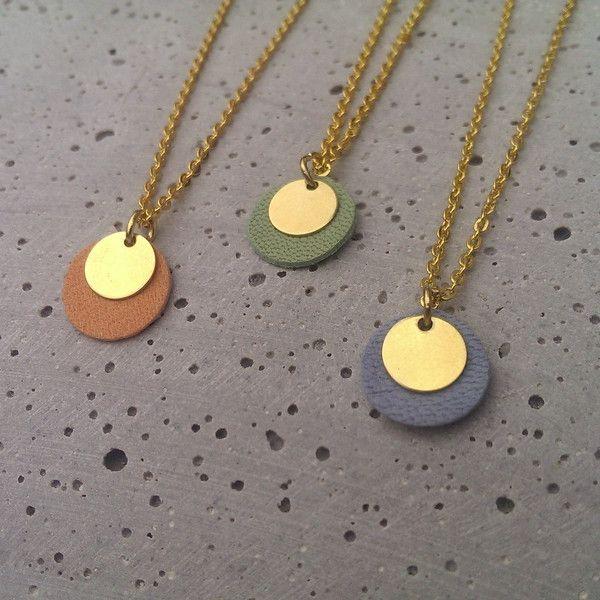 Ketten kurz - Kette Dots / Kreis / Plättchen - Pastell // gold - ein Designerstück von Bohani bei DaWanda
