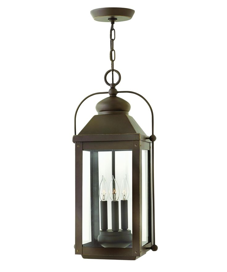 Hinkley Lighting Anchorage 3 Light 11 Wide Outdoor Pendant With Clear Glass  Shade (light Oiled Bronze)