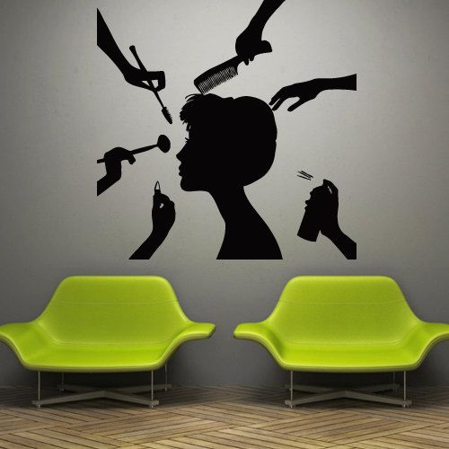 Wall decal decor decals art beauty salon lady by DecorWallDecals, $28.99
