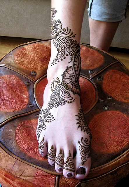 Mehndi Ankle Tattoo : Henna foot ankle tattoo i want wouldn t do the toes