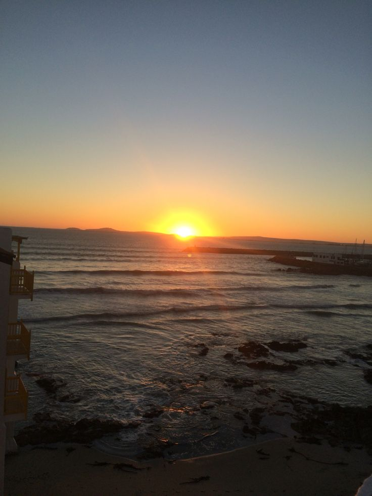Sun setting over Langebaan