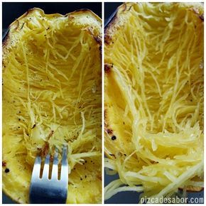 Calabaza espagueti / Spaguetti sqash – Pizca de Sabor