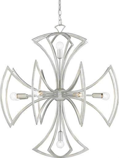 Chandelier Pendant CURREY & COMPANY MALTA Cross 10-Light Contemporar CC-2336
