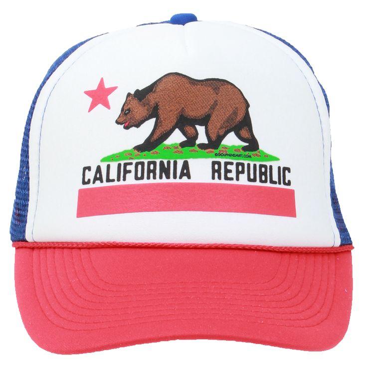New CALIFORNIA REPUBLIC FLAG USA SNAPBACK Hat Cap Curve Bill