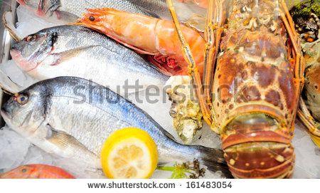 Fresh seafood arrangement