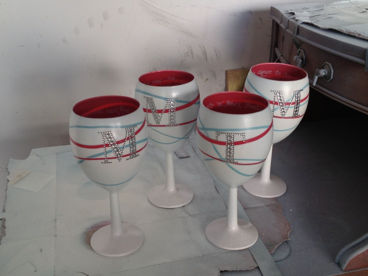 for Spray painting wine glasses